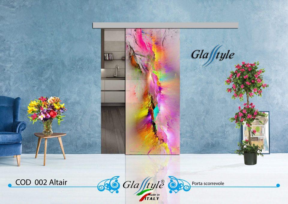 bellissima porta in vetro colorata